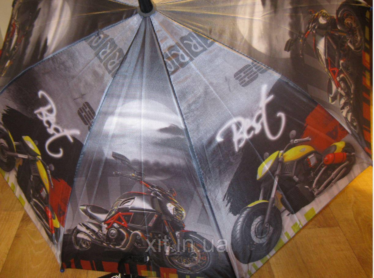 Детский зонт трость Мотоцикл