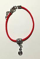 Браслет Красная нить с подвеской Бесконечность, браслет обереговый \ Sb - 0232