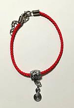 Браслет Червона нитка з підвіскою Нескінченність, браслет обереговий \ Sb - 0232