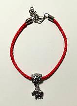 Браслет Красная нить с подвеской Слоник, браслет обереговый \ Sb - 0233