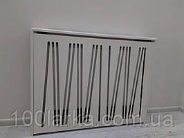 Декоративный экран-решетка (короб) на батарею отопления №101 из МДФ