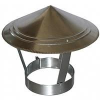Зонт на дымоход 85 мм х 0.45 мм окапник оцинкованный