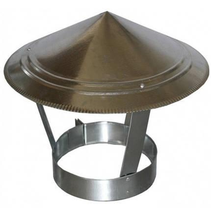 Зонт на дымоход 100 мм х 0.45 мм окапник оцинкованный, фото 2