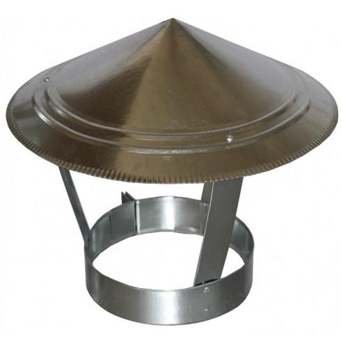 Зонт на дымоход 100 мм х 0.45 мм окапник оцинкованный