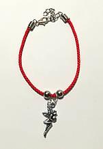 Браслет Красная нить с подвеской Фея, браслет обереговый \ Sb - 0235