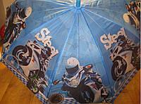 Детский зонт трость Мотоцикл, фото 1