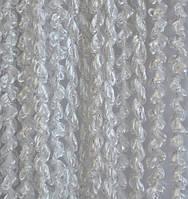 Шторы нити спираль однотонные белого цвета