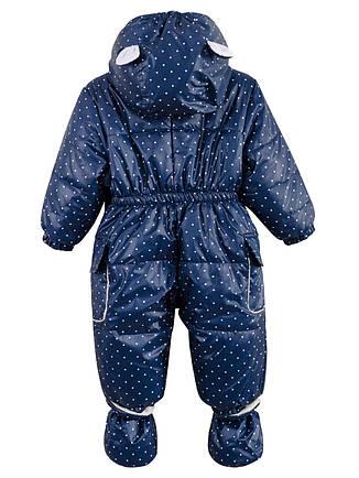 Детский комбинезон на флисе, унисекс, синий, р.86, фото 2