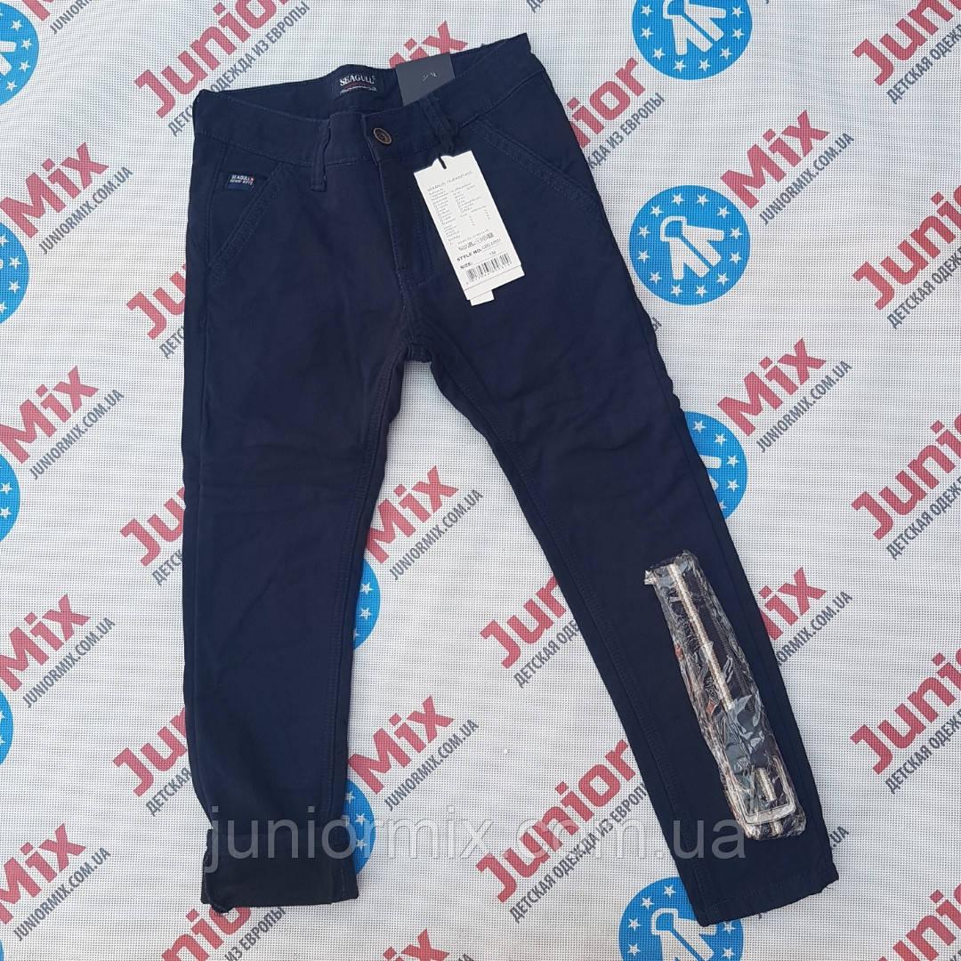 Теплые котоновые брюки на флисе для мальчиков подростков оптом синего и черного цвета SEAGULL