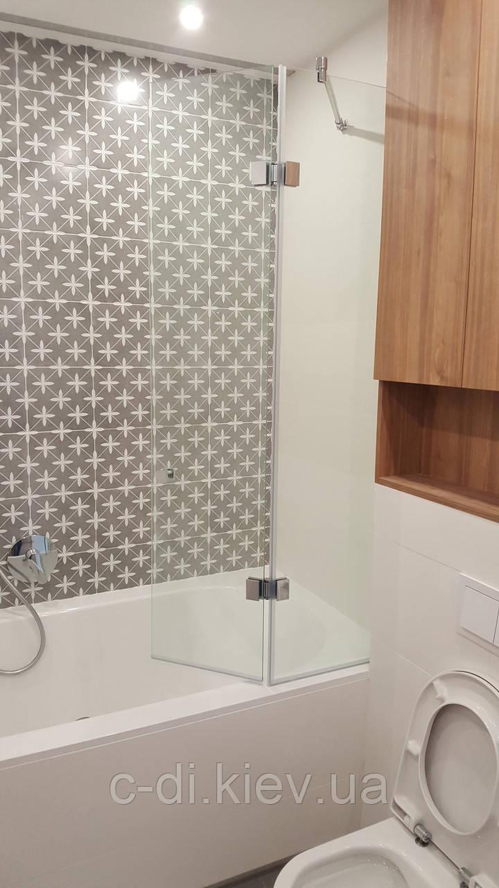 Стеклянная шторка в душ (складывающая)