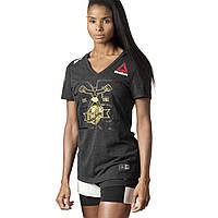 Женская футболка Reebok UFC Fight Kit Decorated (Артикул: DN2427), фото 1