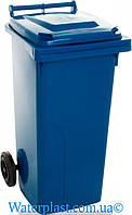 Бак для мусора 120 литров синий (АЛЕАНА)