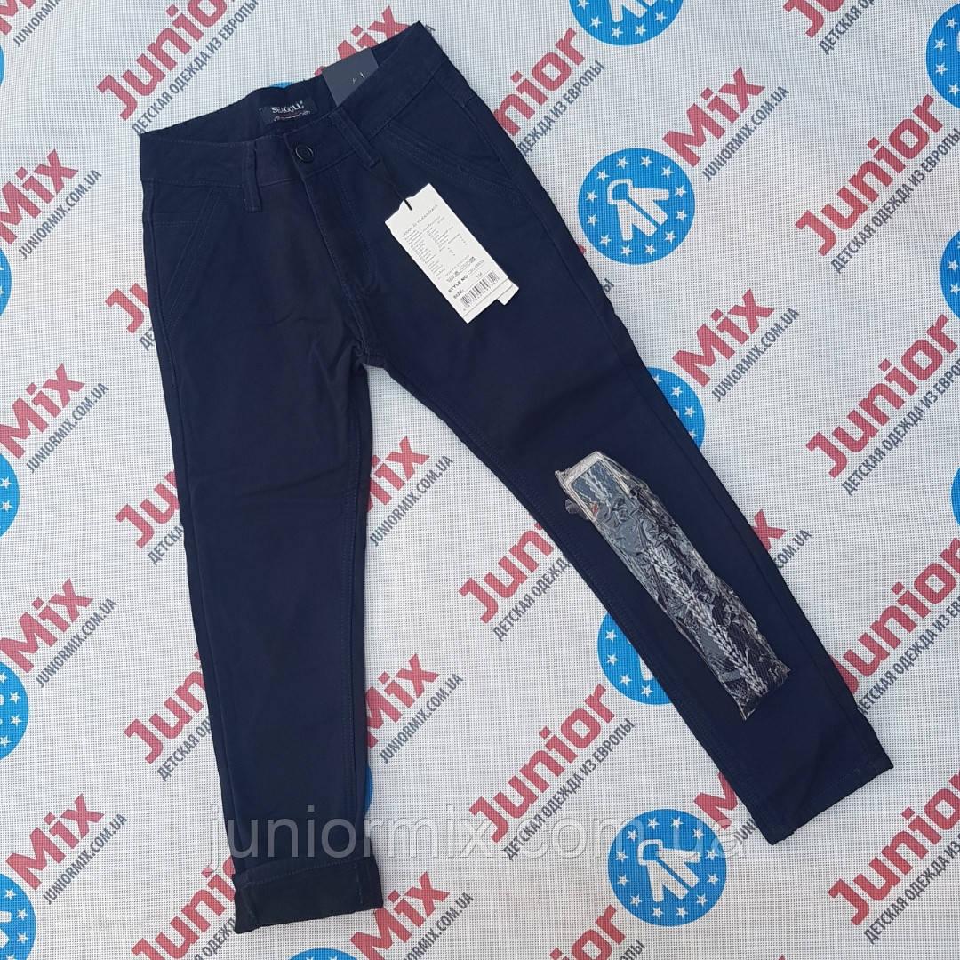 Оптом подростковые теплые брюки на флисе для мальчиков подростков  Seagull синего и чёрного цвета