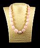 Намисто - галька з рожевого кварцу