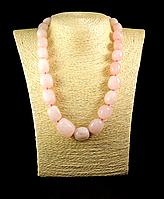 Бусы- галька из розового  кварца, фото 1