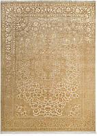 Иранский шерстяной ковёр ручной работы с шёлковым  объемным орнаментом.3д . Шерсть + Шёлк. Размер 3660х2670мм.
