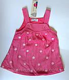Комплект Теплый сарафан и кофта с длин. рукавом Розовый Белый Bubble Турция, фото 5
