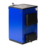 Твердотопливный котел Макситерм 12 кВт с плитой.