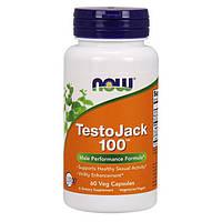 Тестостероновый бустер (повышение тестостерона) NOW Foods TestoJack 100 60 вег. капсул
