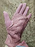 Сенсорны вязание шерсти трикотаж женские перчатки для работы на телефоне плоншете ANJELA только оптом, фото 4