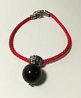 Браслет Красная нить с подвеской из Агата, браслет обереговый, цвет красный \ Sb - 0227.