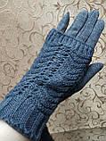 Сенсорны вязание шерсти трикотаж женские перчатки для работы на телефоне плоншете ANJELA только оптом, фото 2