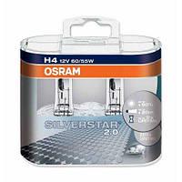 Комплект галогенних ламп Osram Silverstar 2.0 64193SV2-HCB-DUO H4 12V 60/55W P43t Hard DuoPET