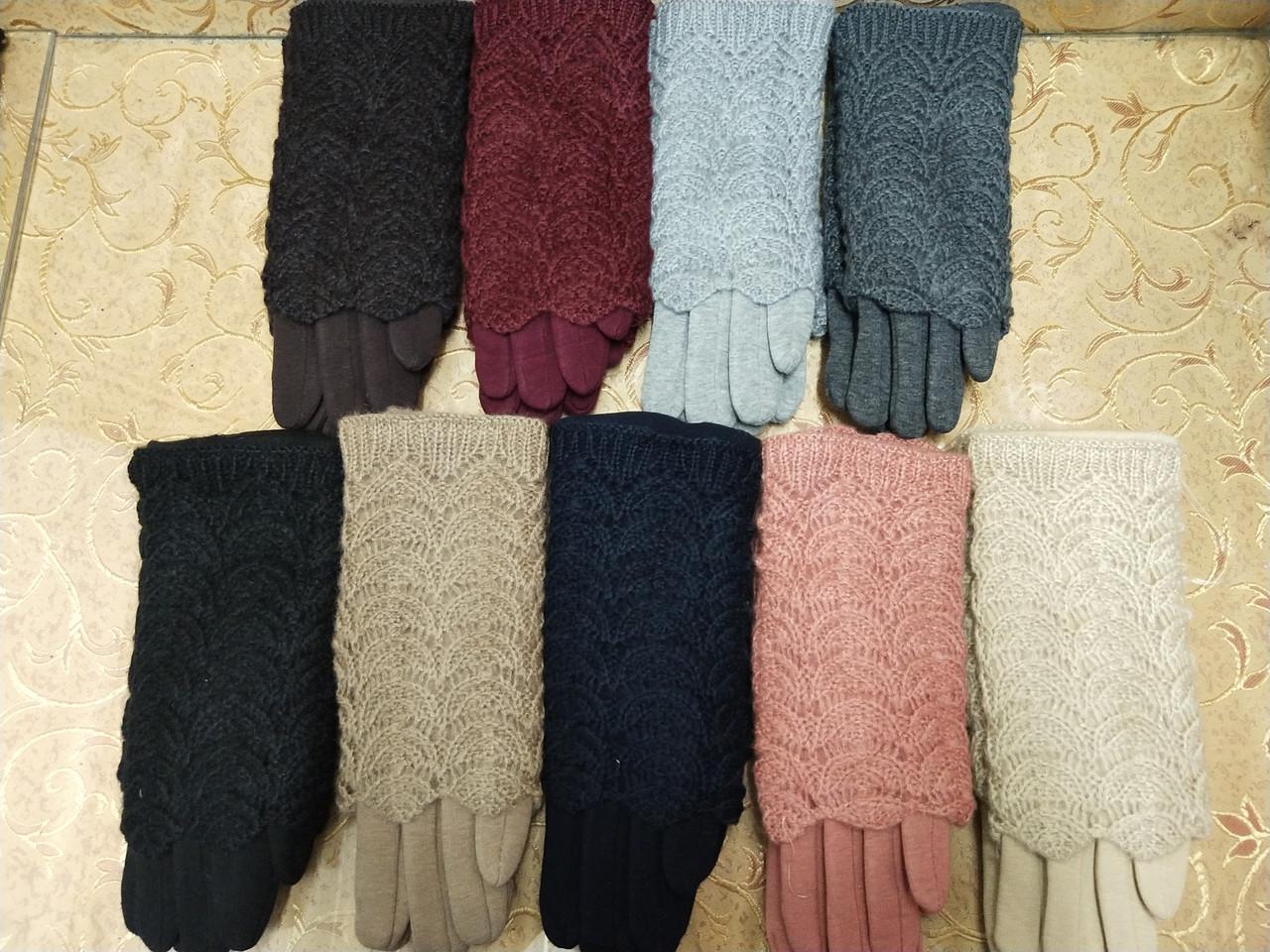 Вязание шерсти трикотаж женские перчатки ANJELA только оптом