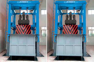Вертикальная станция сжатия и переноса мусора