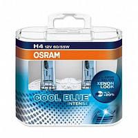 Комплект галогенних ламп Osram Cool Blue Intense 64193CBI-HCB-DUO H4 12V 60/55W P43t Hard DuoPET