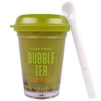 Etude House, Bubble Tea, ночная маска с зеленым чаем, Green Tea, 3.5 унции(100 г)