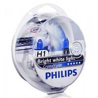 Комплект галогенних ламп Philips Cristal Vision 12258CVS2 H1 12V 55W P14,5s + 2x W5W