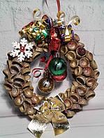 Веночек новогодний на дверь -подарок на Новый год 2021