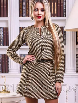 Женский юбочный костюм из букле (2432 svt), фото 2
