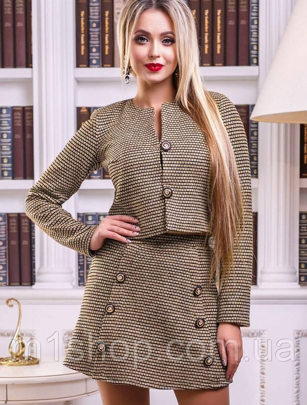 Женский юбочный костюм из букле (2432 svt)