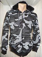 Батник мужской LEXSUS милитари ,на змейке, на флисе, с капюшоном 002/ купить батник оптом