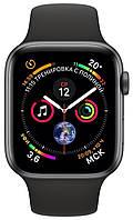 Смарт-часы Apple Watch Series 4 GPS 44mm Gray Alum. w. Black Sport b. Gray Alum. (MU6D2) НОВИНКА 2018 MU6D2