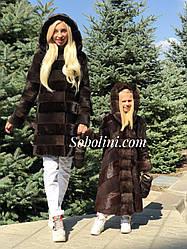 Шубы из южно-американского бобра мама и дочка