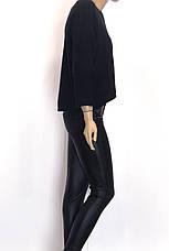 жіноча вязана коротка кофта розпашонка з люрексом , фото 3