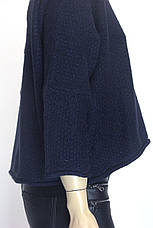 жіноча вязана коротка кофта розпашонка з люрексом , фото 2