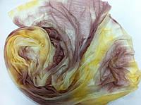 Шарф в желто коричневых оттенках  150*50 см