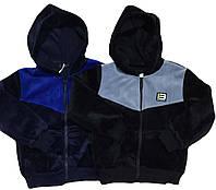 Толстовки для мальчиков утеплённые  велюровые оптом, размеры 134-164, S&D арт. CH-5324