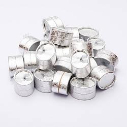 Коробочка для украшений серебристая овал 6х4,5х3,5см 24 шт. № А 13-2