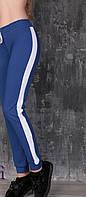 Спортивные женские штаны с лампасами белыми