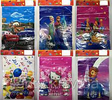 """Набор пакеты подарочные детские для подарков """"Герои из мультфильмов"""" 20х30 (10шт/уп)"""