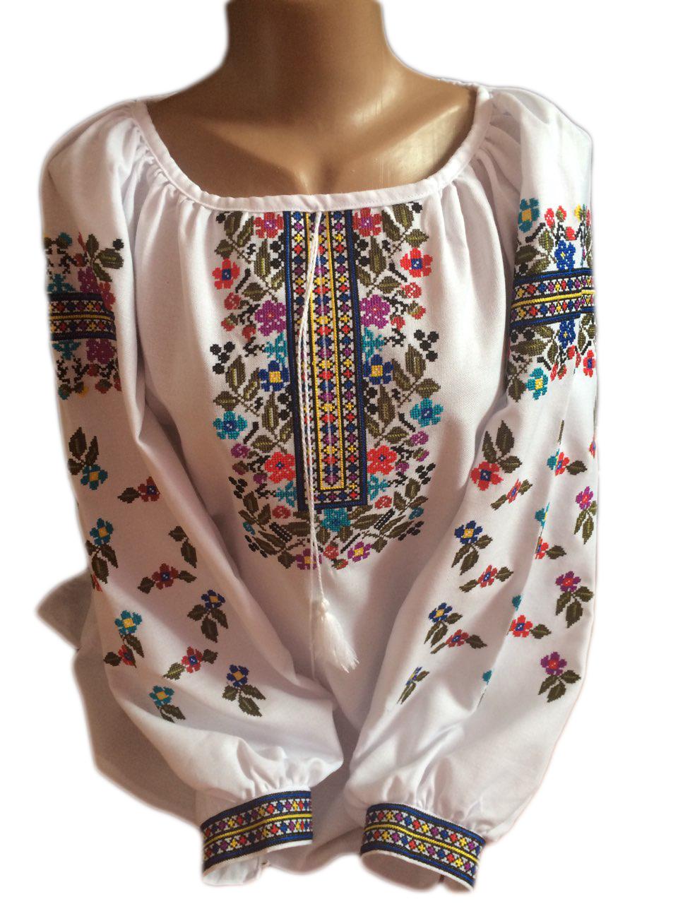"""Жіноча вишита сорочка (блузка) """"Вінті"""" (Женская вышитая рубашка (блузка) """"Винти"""") BT-0034"""