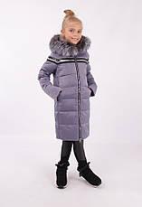 Детский зимний пуховик для девочки от Lusiming 91803, 116-140 (серо-голубой), фото 3
