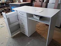 Стол маникюрный двойная столешница с ящиком-карго