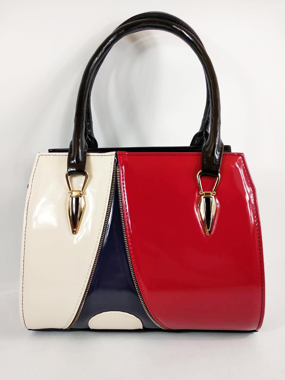5860a9655970 Сумка красная черная модная женская лаковая стильная, цена 640 грн., купить  в Черновцах — Prom.ua (ID#520261853)