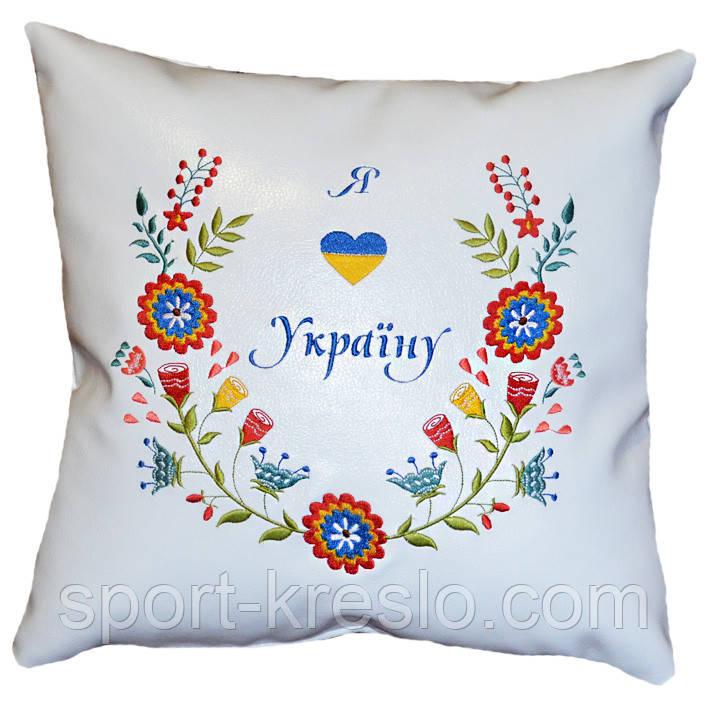 Эксклюзивная подушка автомобильная с украинской вышивкой